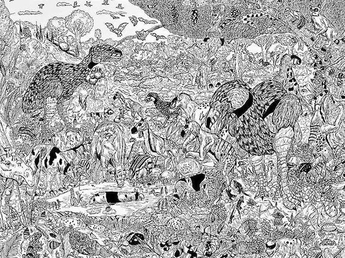 Dusan's incredibly detailed prehistoric animal drawings