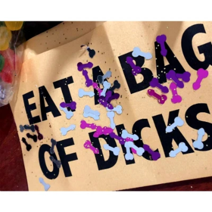 Eat a Bag of Dicks Note with Dick Confetti