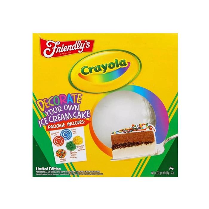 Friendly's Crayola Ice Cream Cake in box