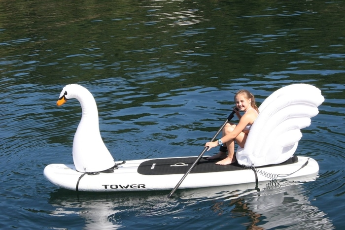 Girl on a Swan Stand Up Float