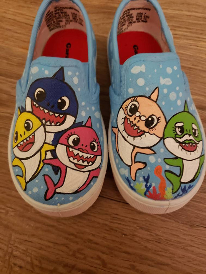 Hand-painted Slip-ons by ThisLittlePiggieCo