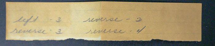 Handwritten Left and Reverse Counts