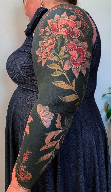 Botanical Imagery Body Art by Esther Garcia