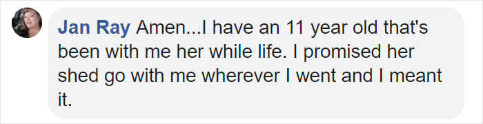 Jan Ray Facebook Comment