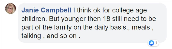 Janie Campbell Facebook Comment