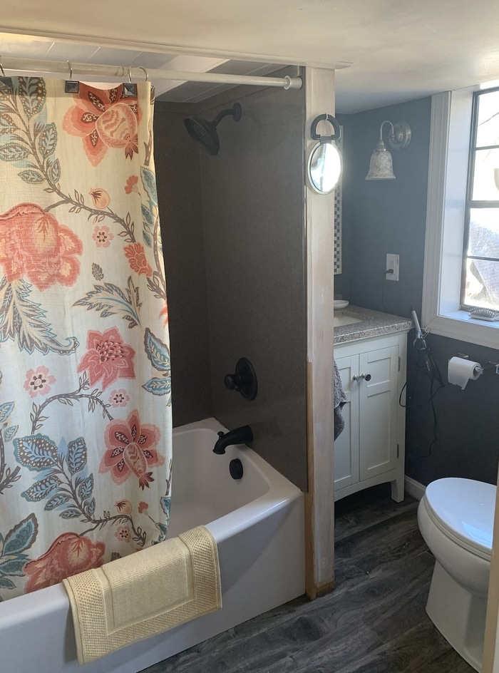 Keli and Ryan Brinks Tiny House Bathroom
