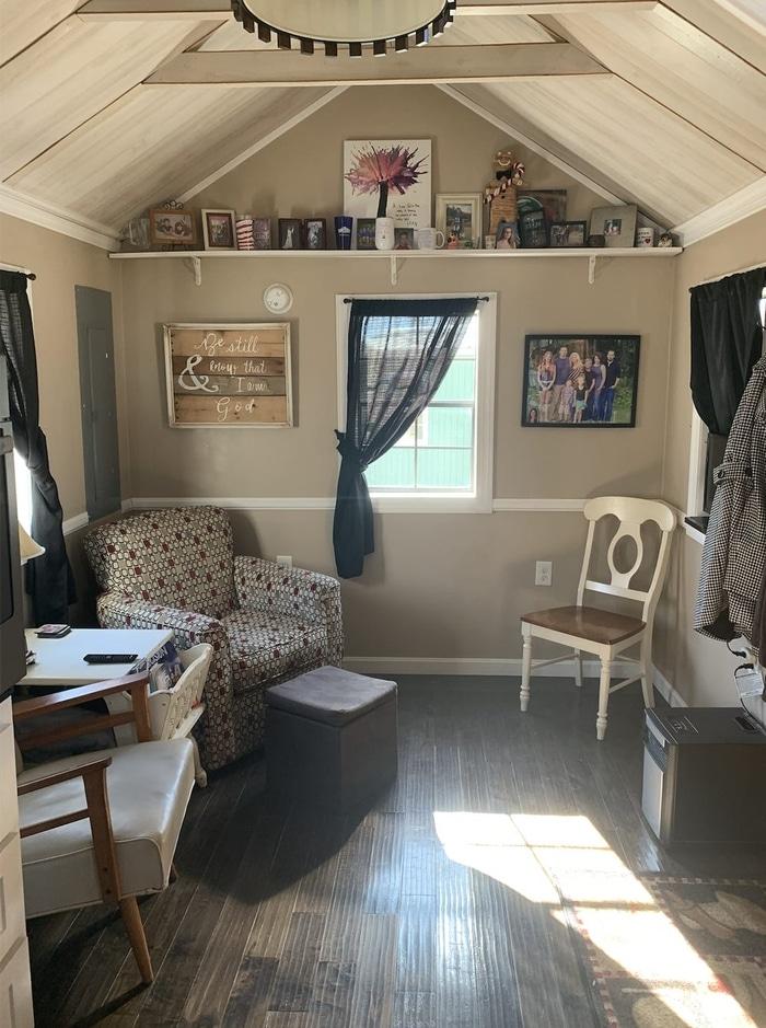 Keli and Ryan Brinks Tiny House Living Area