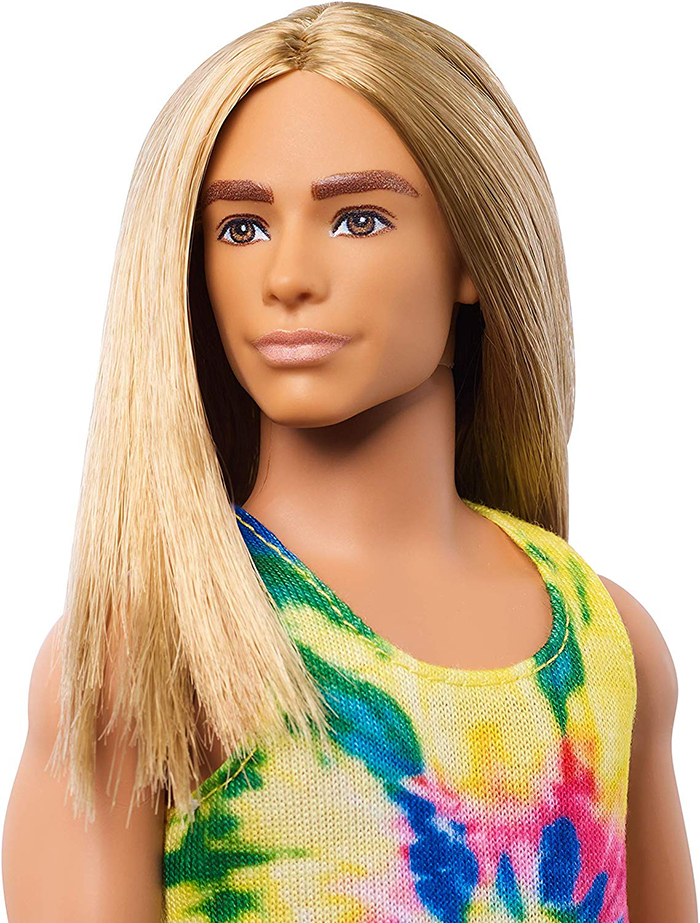 Ken with well groomed brows and luscious long locks