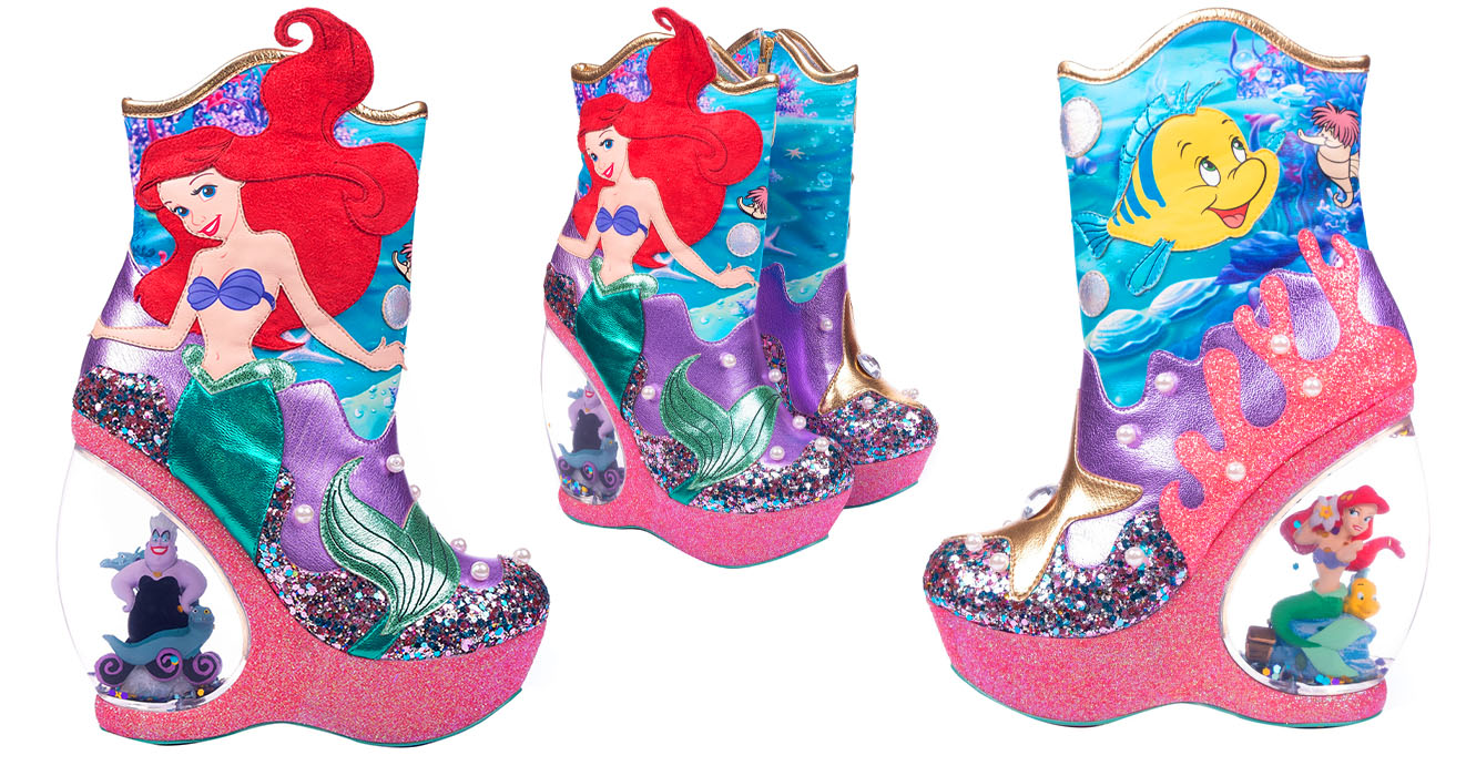Little Mermaid Wedge boots