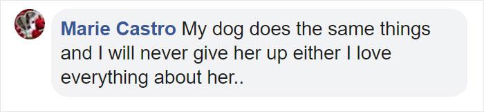 Marie Castro Facebook Comment