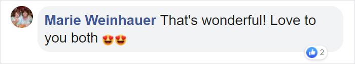 Marie Weinhauer Facebook Comment
