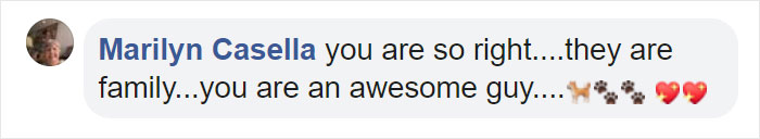 Marilyn Casella Facebook Comment