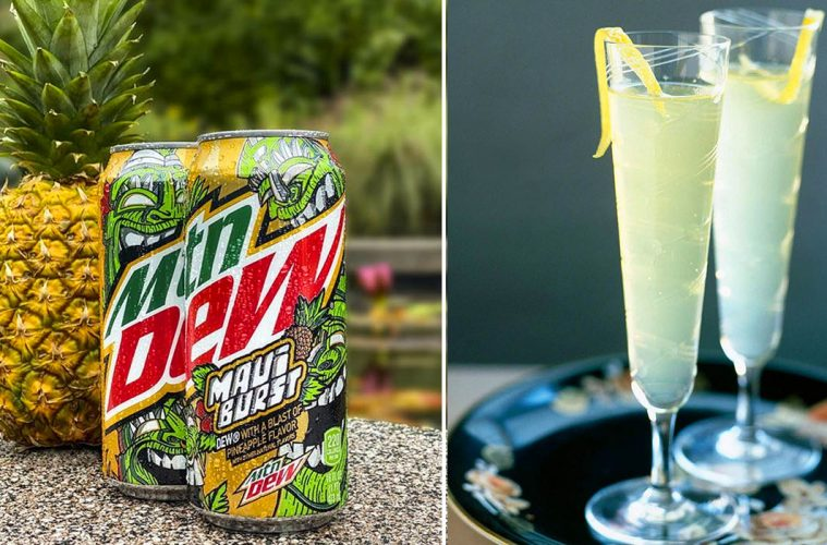 Mountain Dew Maui burst drink