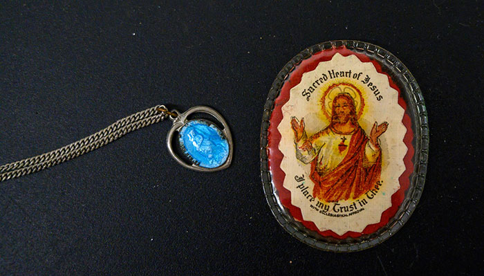 Necklace and Religious Article Found inside Patti Rumfola's Purse