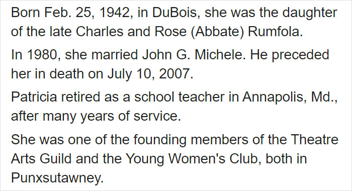 North Canton City Schools Facebook Post on Patti Rumfola's Obituary 2
