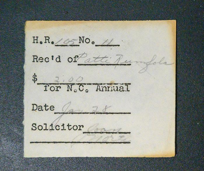 Old Receipt Found inside Patti Rumfola's Purse 1