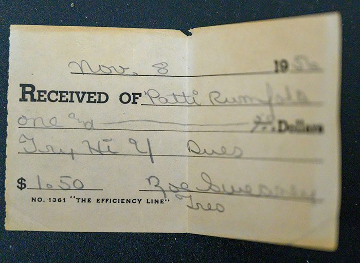 Old Receipt Found inside Patti Rumfola's Purse 2