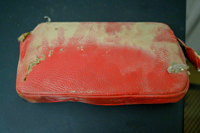 Old Red Purse Owned by Patti Rumfola