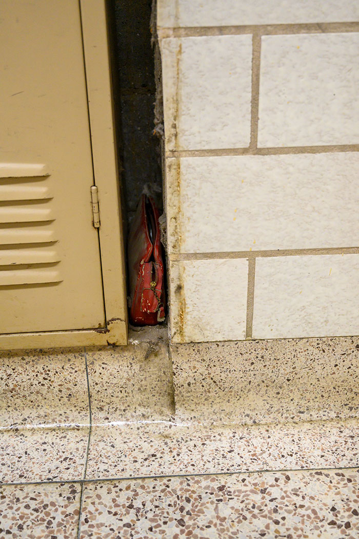 Old Red Purse Retrieved at North Canton Middle School