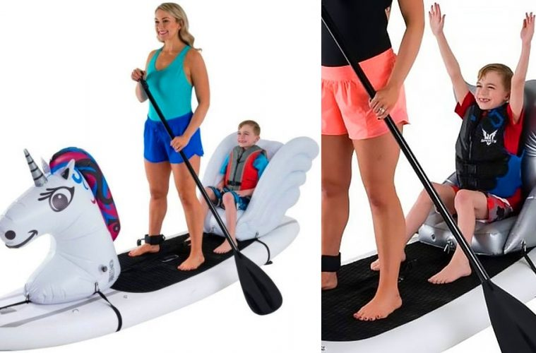 Paddleboard with child seat