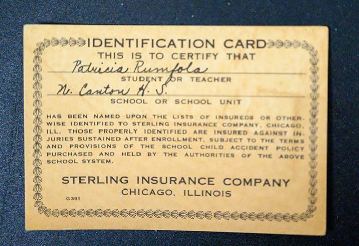 Patti Rumfola's Identification Card for Sterling Insurance Company