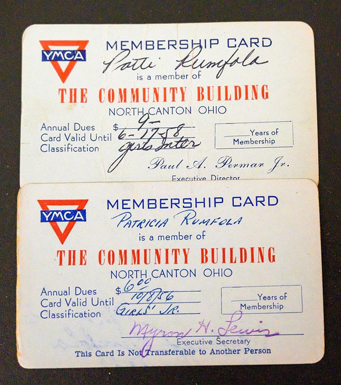 Patti Rumfola's YMCA Membership Card