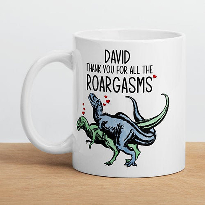 Personalize Naughty Dinosaur Cup