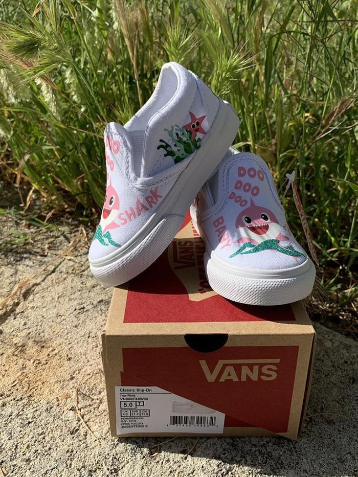 Custom Slip-on Vans for Kids by 818VinylCreations