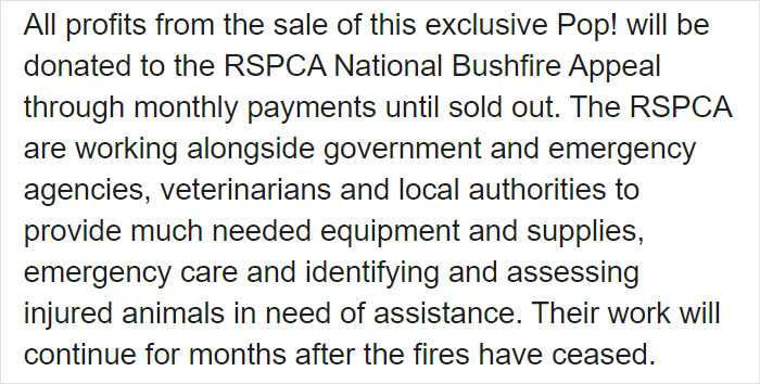 Popcultcha Facebook Post about Bushfire Heroes Special Edition Funko Pop Figure 2