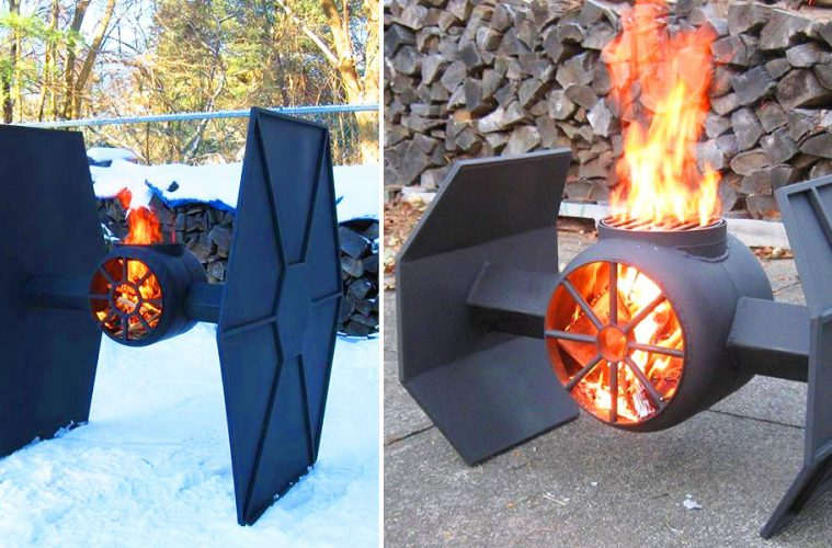 Star Wars TIE Fighter fire pit