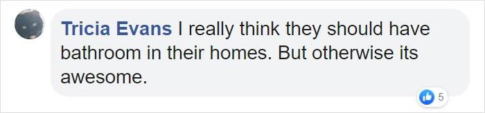 Tricia Evans Facebook Comment