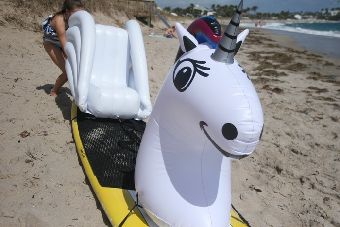 Unicorn Stand Up Float on Sand