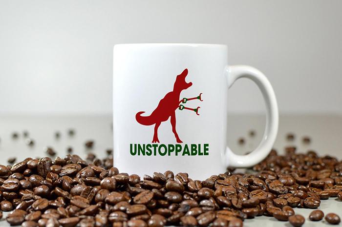 Unstoppable T-Rex Pun Coffee Mug