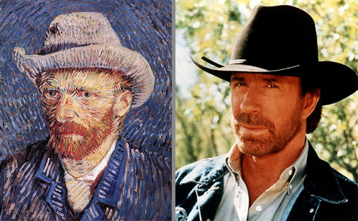 Van Gogh Looks Like Chuck Noris