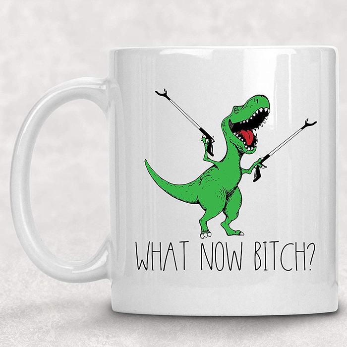 What Now Bitch T-Rex Coffee Mug