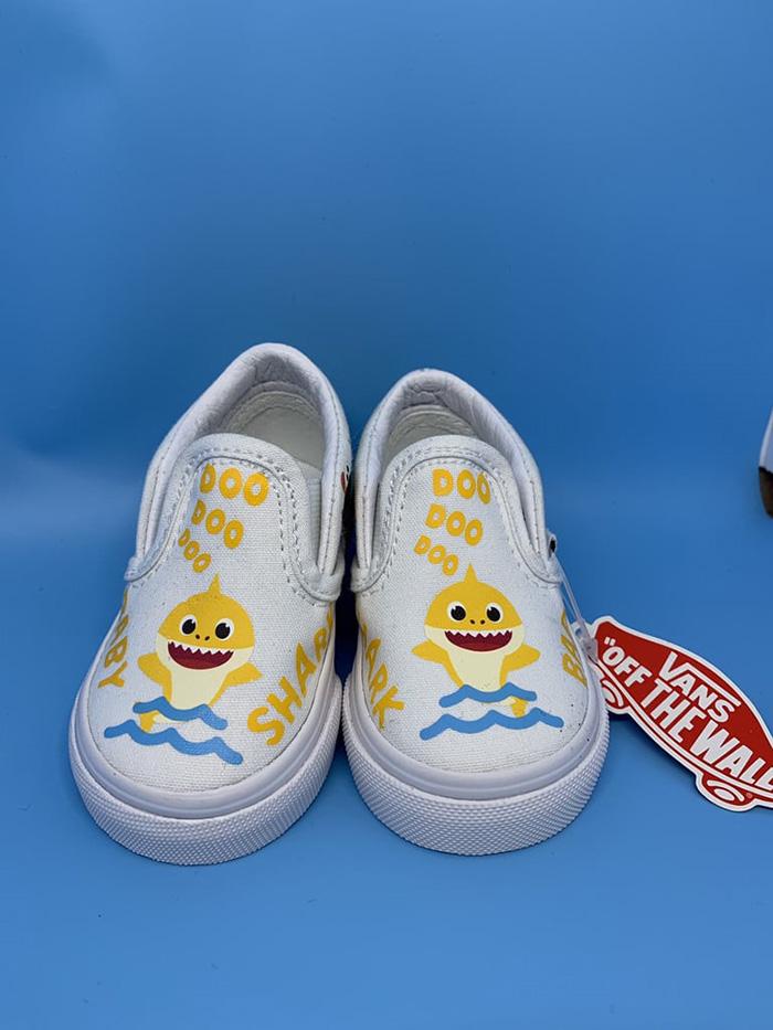 Custom Slip-on Sneakers for Kids by 818VinylCreations