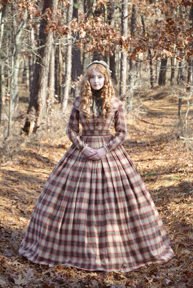 angela clayton in a civil war ensemble