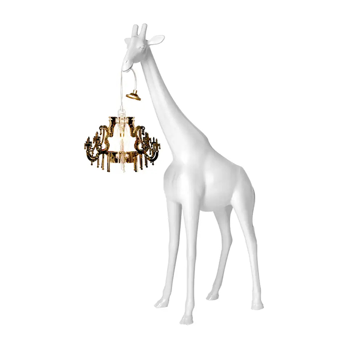 animal inspired hanging lamp xs white