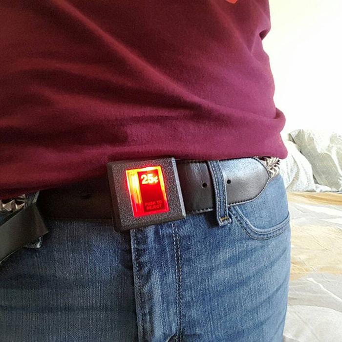arcade slot belt buckle lights up