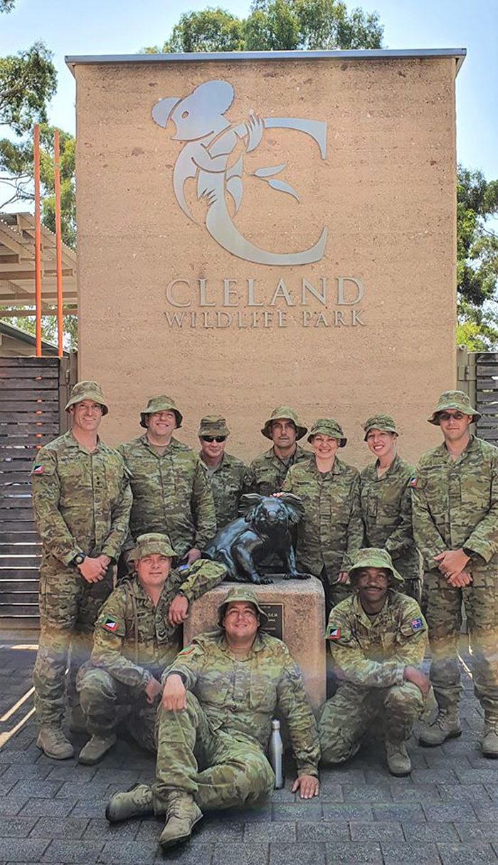australian army helping wildlife park