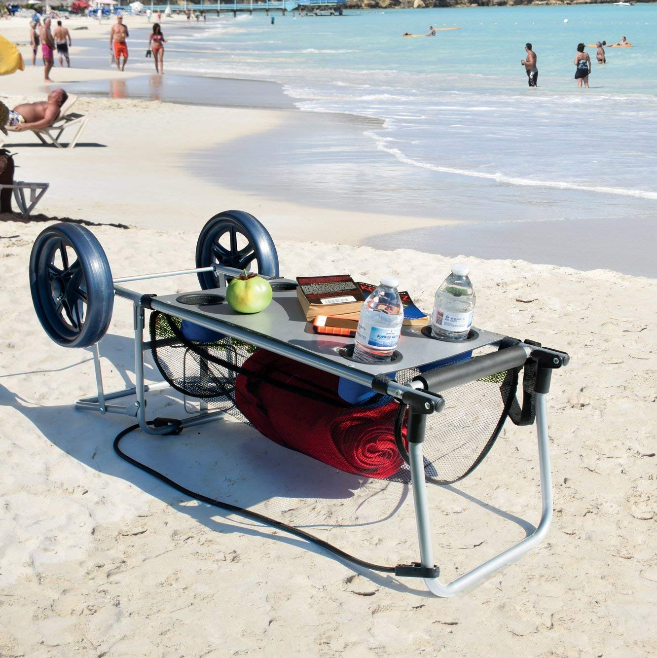 beach table and wagon in one