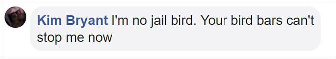 cockatoo bird bars can't stop me