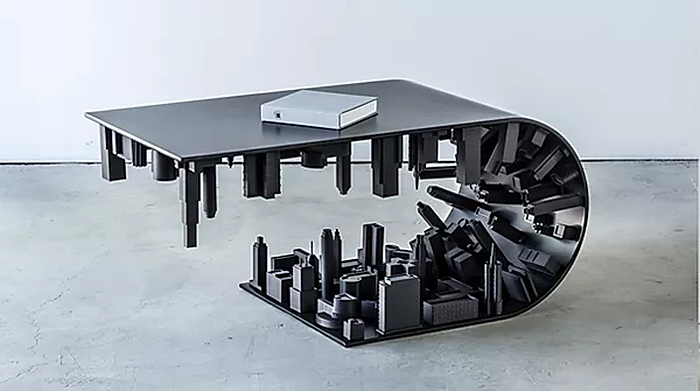 black edition wave city coffee table