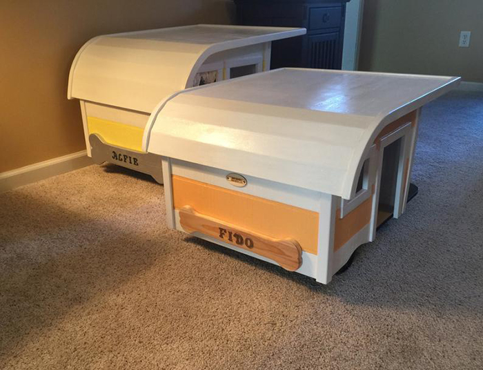 camping trailer dog bed back