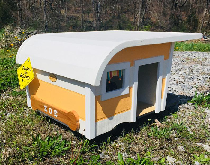 camping trailer dog bed