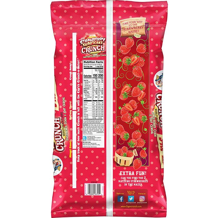 cap'n crunch strawberry shortcake cereal back information