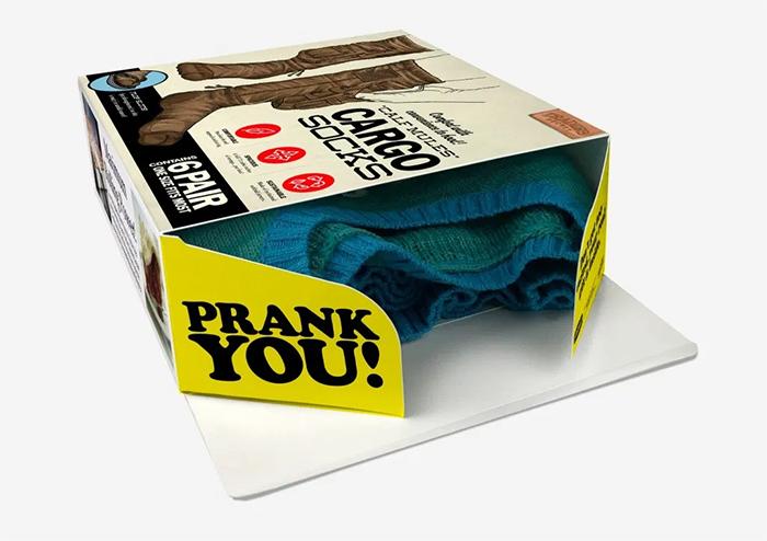 cargo socks prank gift idea