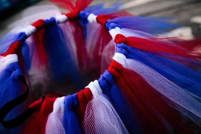 chicken tutus patriotic colors