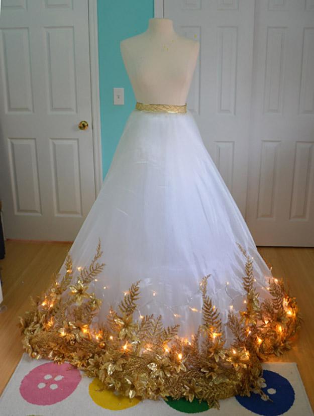 christmas angel skirt with lights