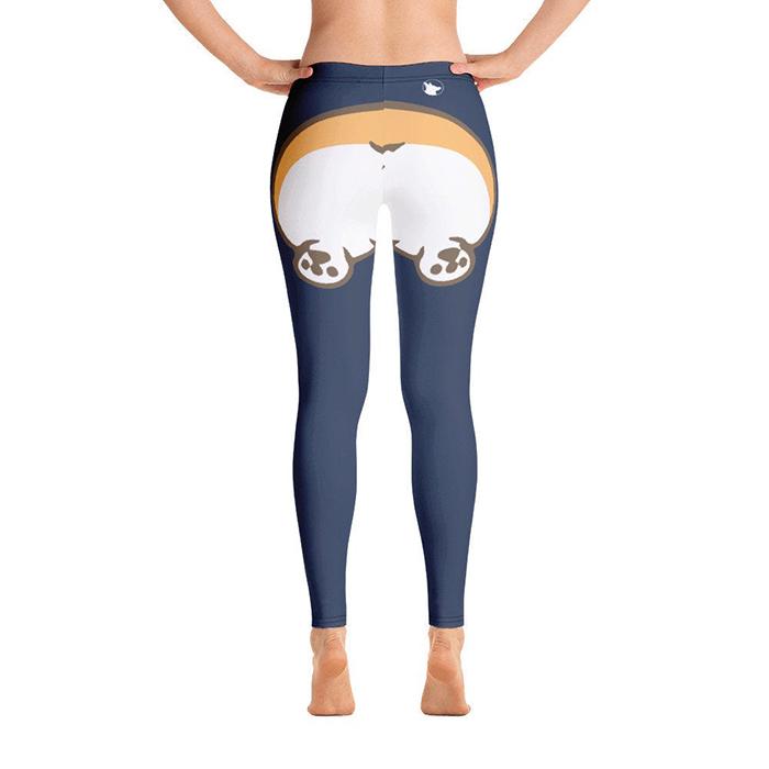 corgi butt leggings back side
